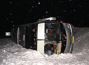 Авария с пассажирским автобусом на трассе М-54