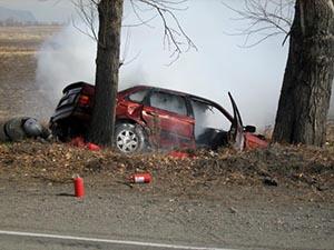 В Абакане (Хакасия) автомобиль полиции врезался в иномарку