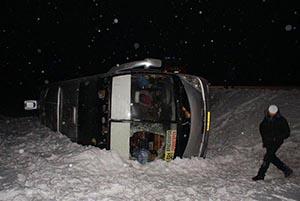 На трассе М-54 перевернулся рейсовый автобус Красноярск-Саяногорск, погибших нет